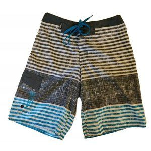 Vintage 90's NO FEAR Board Shorts Trunks Surf 28 S